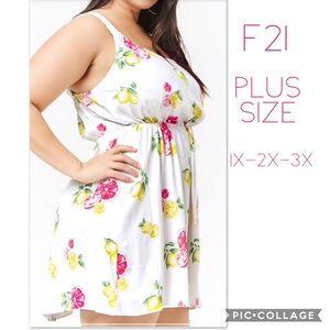 🍋 F21 Plus Size Lemon Citrus Dress 🍋